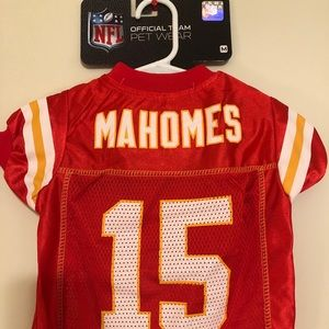 🔥PATRICK MAHOMES #15 Chiefs NFLPA Dog Jersey 📈